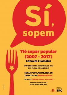 cartell 11è sopar popular