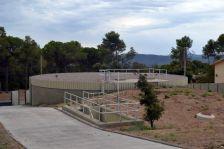 Vista principal de les instal·lacions de l a planta potabilitzadora de l'ATLL.