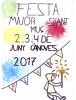 Il·lustració realitzada per Oriol Sánchez, alumne de 5è de primària de l'escola l'Estelada, guanyador del concurs d'il·lustracions per la portada de la Festa Major de Cànoves.
